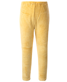 Yellow Duck Solid Color Leggings - Yellow