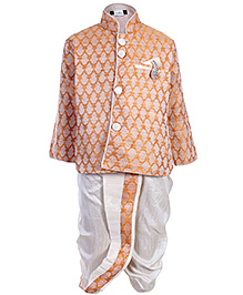 Babyhug Dhoti Kurta Set Self Pattern - Diamond Work