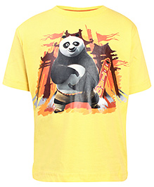 Kung Fu Panda Yellow T-Shirt - Panda Print - 2 To 3 Years