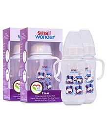 Small Wonder Clear Polypropylene Feeding Bottle Pack Of 2 - 125 Ml