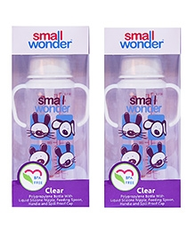 Small Wonder Clear Polypropylene Feeding Bottle Pack Of 2 - 250 Ml