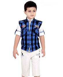 Active Kids Wear Three Piece Set Navy - Checks
