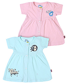 Bumchums Front Open Frocks - Set Of 2
