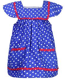 Babyhug Cap Sleeves Top - Royal Blue