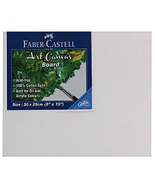 Faber Castell Art Canvas Board - White - 25 X 30 Cm