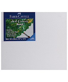 Faber Castell Art Canvas Board - White - 25 X 30 Cm