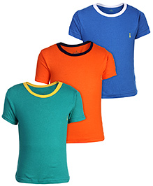 Babyhug Solid Color T-Shirt - Set Of 3