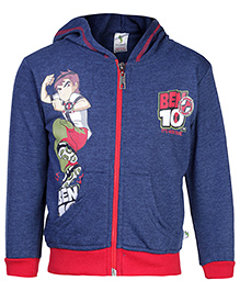 Cucumber Hooded Sweat Jacket - Ben 10 Print