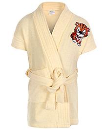 Babyhug Half Sleeves Bathrobe - Tiger Print
