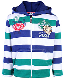 Cucumber Hooded Sweat Jacket - Stripe Pattern