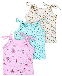 Babyhug Tie Up Jhabla Multi Print - Set Of 3