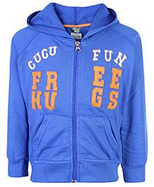 Cucu Fun Hooded Sweat Jacket - Cucu Fun Embroidery