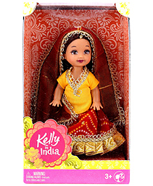 Barbie Kelly In India Collectible Doll - Height 11 Cm - 3 Years+
