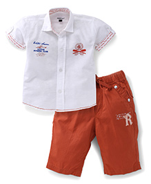 Active Kids Wear Half Sleeves Shirt And Half Pant Set - Active Rowing Club Embroidery