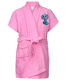 Babyhug Short Sleeves Bathrobe - Pink