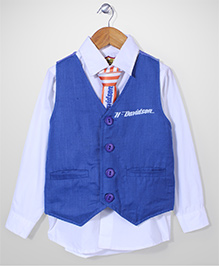 Tippy Shirt With Waistcoat And Tie - Harley Davidson Print