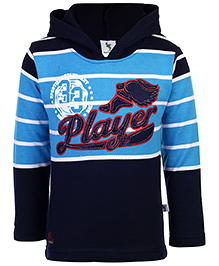Cucumber Hooded Sweatshirt Blue - Player Embroidery