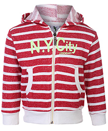 Cucumber Hooded Sweatshirt Red - Stripes - 6 To 12 Months