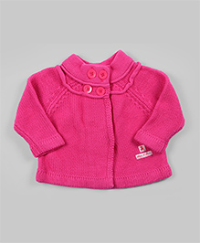 Hot Pink Turtle Neck Cardigan