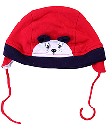 Sapphire Cap With Knot Mouse Applique - Red