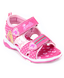 Barbie Sandal Dual Velcro Closure - Pink
