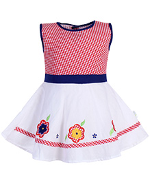 Babyhug Sleeveless Frock - Floral Patch