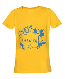 Imagica Half Sleeves T-Shirt - Silhouetted Logo