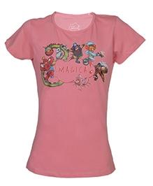 Imagica Character Cloud Half Sleeves T-Shirt - Printed