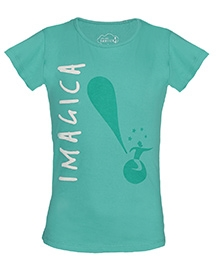 Imagica Half Sleeves T-Shirt Sea Green - Exclamation Print