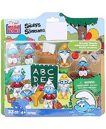Mega Bloks Schoolin Smurfs - 33 Pieces
