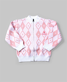 Baby Pink & White Agile Cardigan