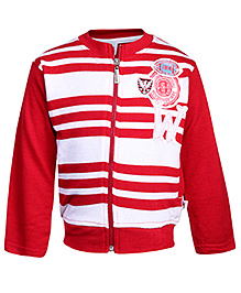 Cucumber Full Sleeves Sweatshirt Red And White- Stripes
