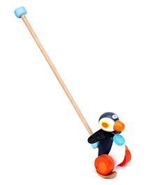 Sevi Push Along Penguin - Black