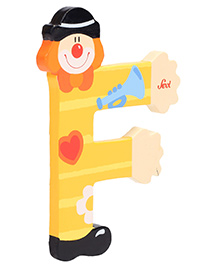 Sevi Wooden Letter Clown Alphabet F - Yellow