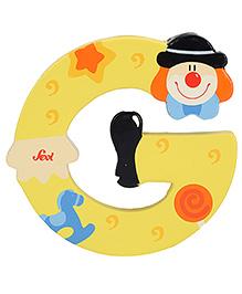 Sevi Wooden Letter Clown Alphabet G - Yellow