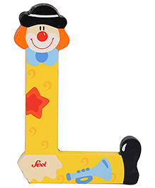 Sevi Wooden Letter Clown Alphabet L - Yellow