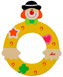 Sevi Wooden Letter Clown Alphabet O - Yellow