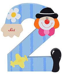 Sevi Wooden Number Clown Alphabet 2 - Blue