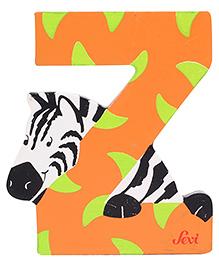 Sevi Wooden Letter Zebra Alphabet Z - Orange