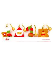 Sevi Xmas Decorations With Bear Multicolour - 4 Pieces