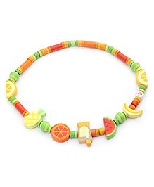 Sevi Wooden Necklace Cocktail Party - Multi Colour
