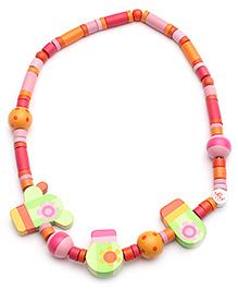 Sevi Wooden Necklace Cactus - Multi Colour