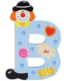 Sevi Wooden Letter Clown Alphabet B - Blue