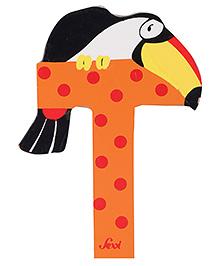Sevi Wooden Letter Toucan Alphabet T - Orange