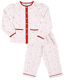 ShopperTree Full Sleeves Night Suit - Star Print