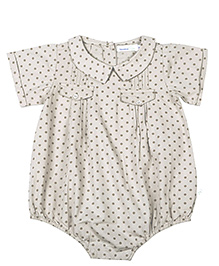 ShopperTree Short Sleeves Onesies - Polka Dot Print