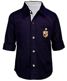 ShopperTree Full Sleeves Shirt - Solid Black