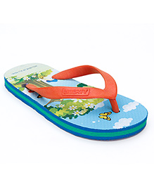 Footfun Slipper V Strap  - Printed