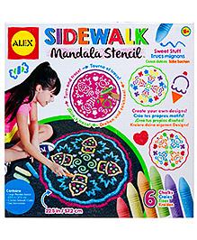 Alex Toys Sidewalk Mandala Stencil - Sweet Stuff