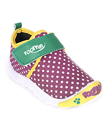 Footfun Casual Shoes Velcro Closure - Dotted Print